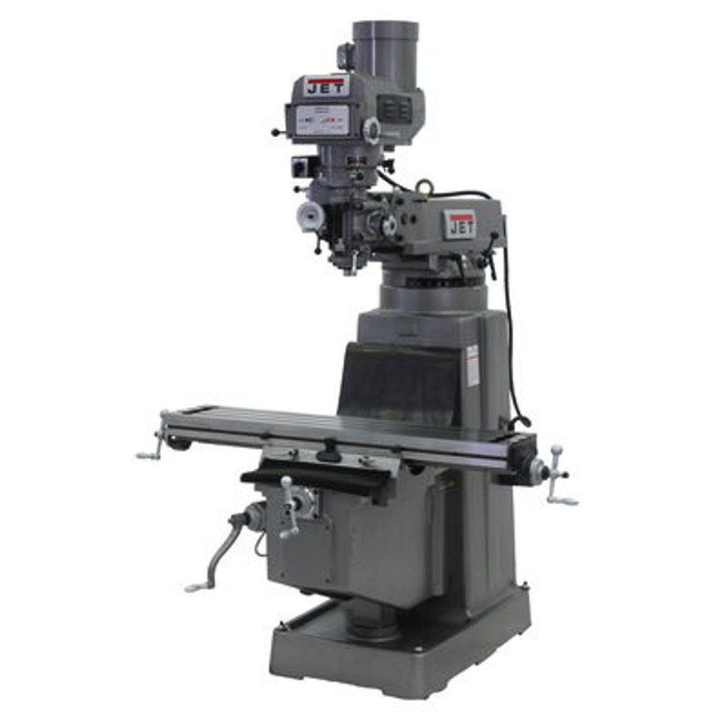 JET JTM-1050 Mill With ACU-RITE 203 DRO With X, Y and Z-Axis Powerfeeds and Power Draw Bar #690258