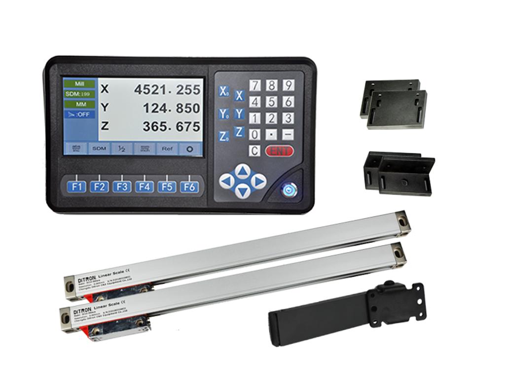 Ditron D80 Lathe DRO Kit w/ Glass Scales