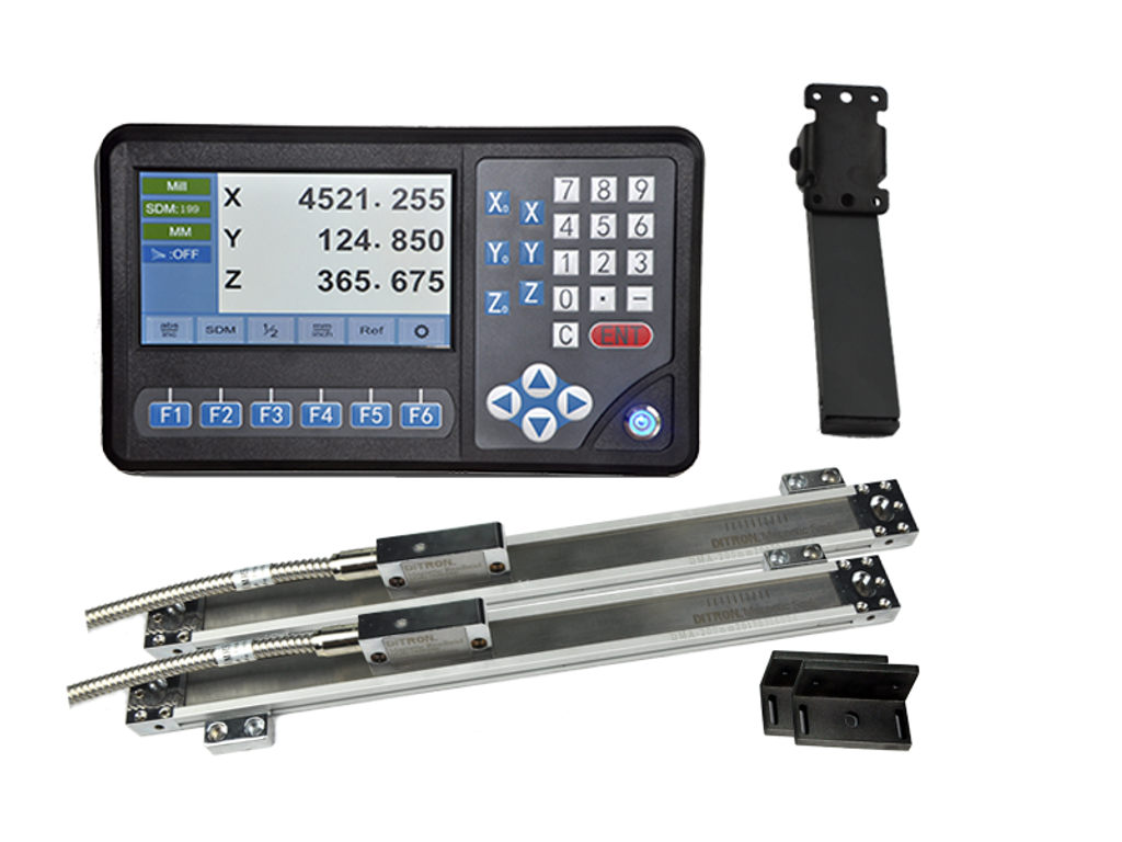 Ditron D80 Lathe DRO Kit w/ Magnetic Scales