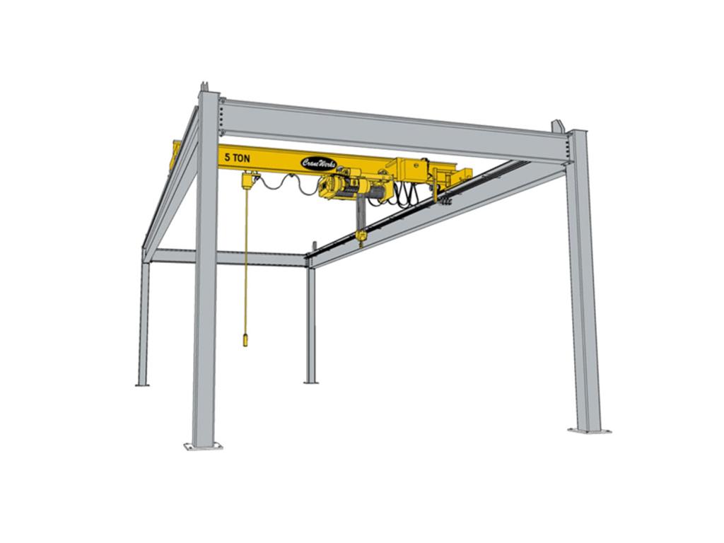 Top Running Workstation Bridge Crane Runway, CraneWerks