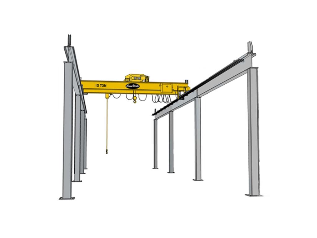 Top Running Freestanding Bridge Crane Runway, CraneWerks