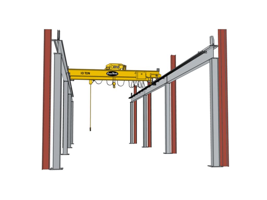 Top Running Semi-Freestanding Bridge Crane Runway, CraneWerks