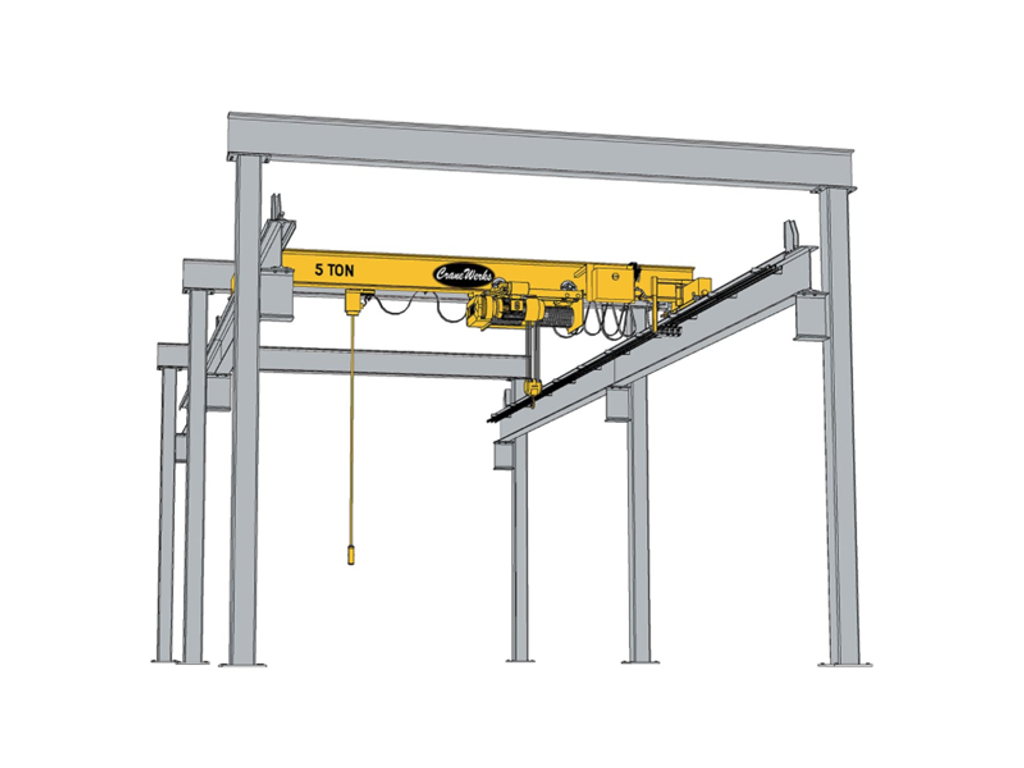 Top Running Freestanding Header-Braced Crane Runway, CraneWerks