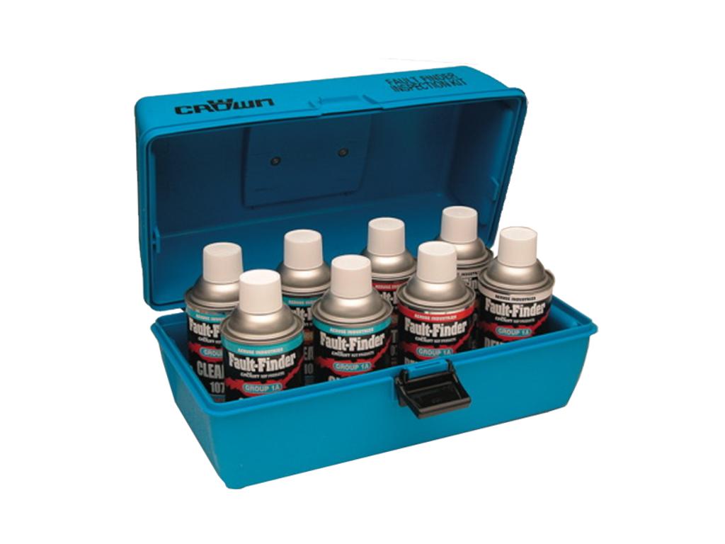 Crown Fault Finder Complete Kit (4 cans Cleaner, 2 cans Penetrant, 2 cans Developer, 1 Carrying Case