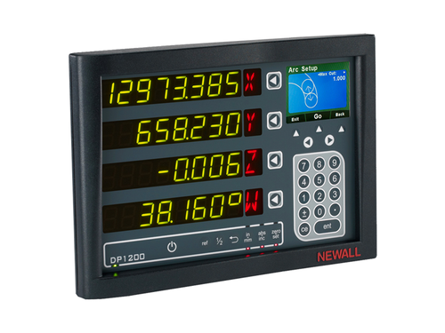 DP1200 DRO Panel Mount Display - 4 Axes - 3 Axes Analog, 1 Axis Digital