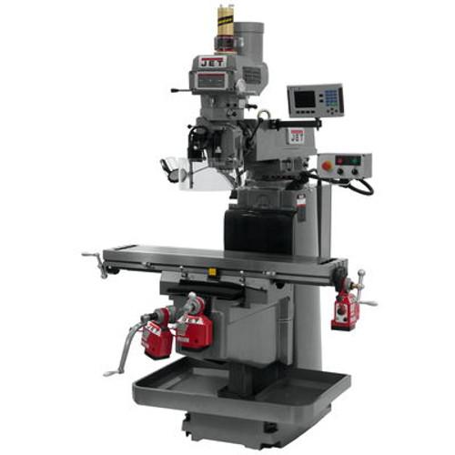 JET JTM-1254VS Mill With ACU-RITE 203 DRO X, Y & Z Powerfeeds & Air Power Drawbar #698054