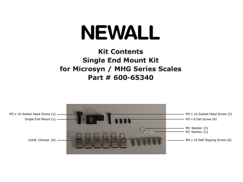 Newall Single End Mount for Microsyn Scale