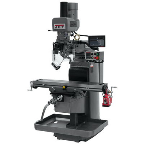 JET JTM-1050EVS2/230 Mill With Newall DP700 DRO With X-Axis Powerfeed and Air Powered Drawbar #690635