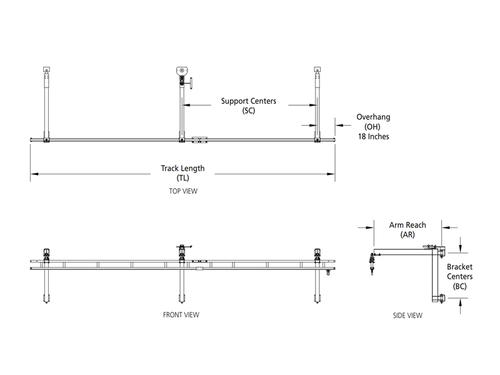 Rigid Lifelines - Column-Mounted Fold-Away Anchor Track™ System