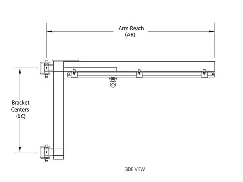 Rigid Lifelines - Column-Mounted Swing Arm Anchor Track™ System