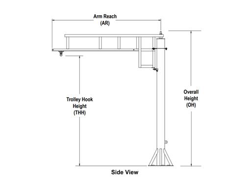 Rigid Lifelines - Freestanding Swing Arm Anchor Track™ System