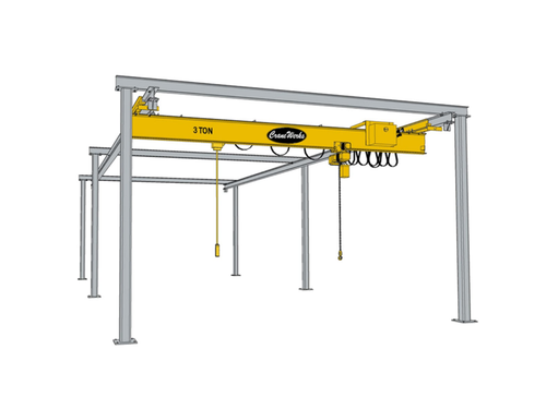 Underhung Freestanding Workstation Bridge Crane Runway, CraneWerks