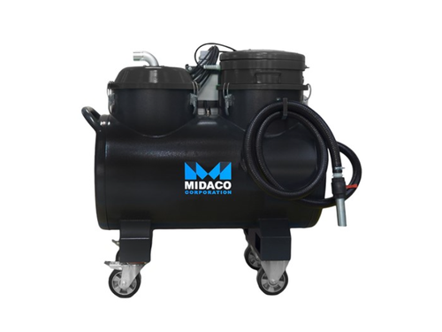 Midaco M740VOS Industrial Vacuum (280L) for CNC Chip and Coolant/Oil Extraction & Reintegration
