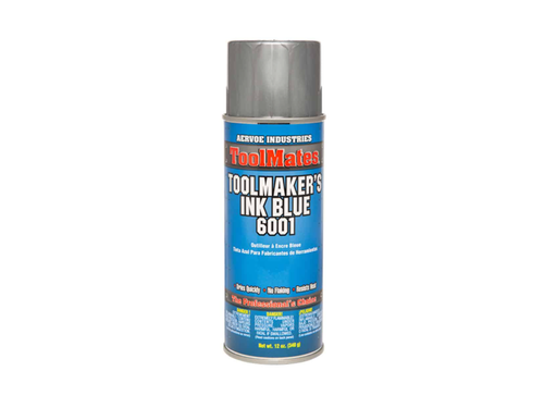 Crown 6001 Toolmaker's Ink - Blue, 12oz Aerosol Can
