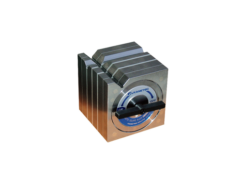 Kanetec KYA-8B Magnetic Square Type Block, 120N/100N (V1/V2) Holding Power