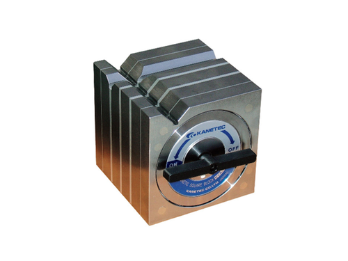 Kanetec KYA-15B Magnetic Square Type Block, 400N/400N (V1/V2) Holding Power