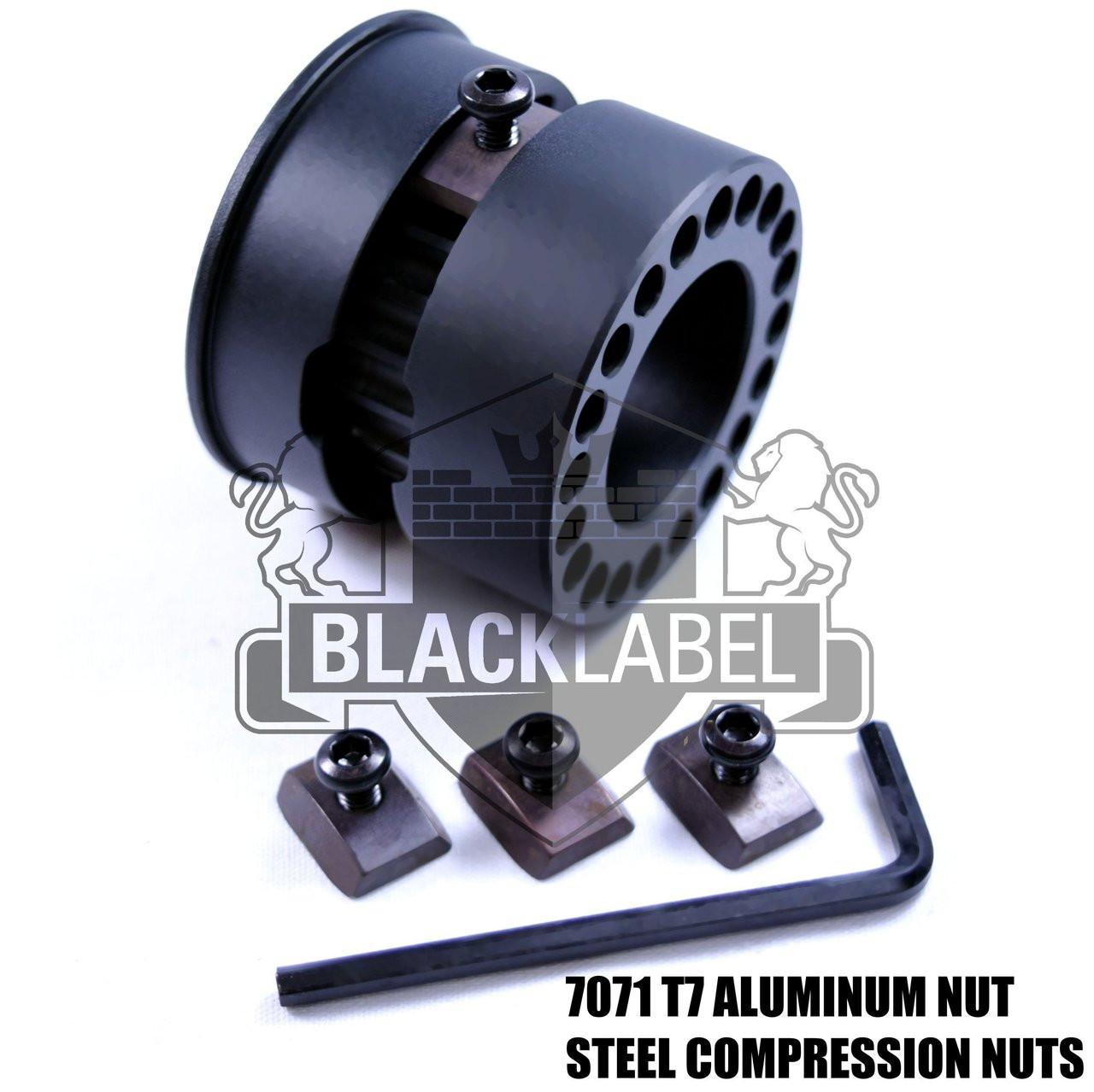 "Black Label Carbon Fiber MLOK | 15"" Free Float M-lok  HandGuard/Quad rail"