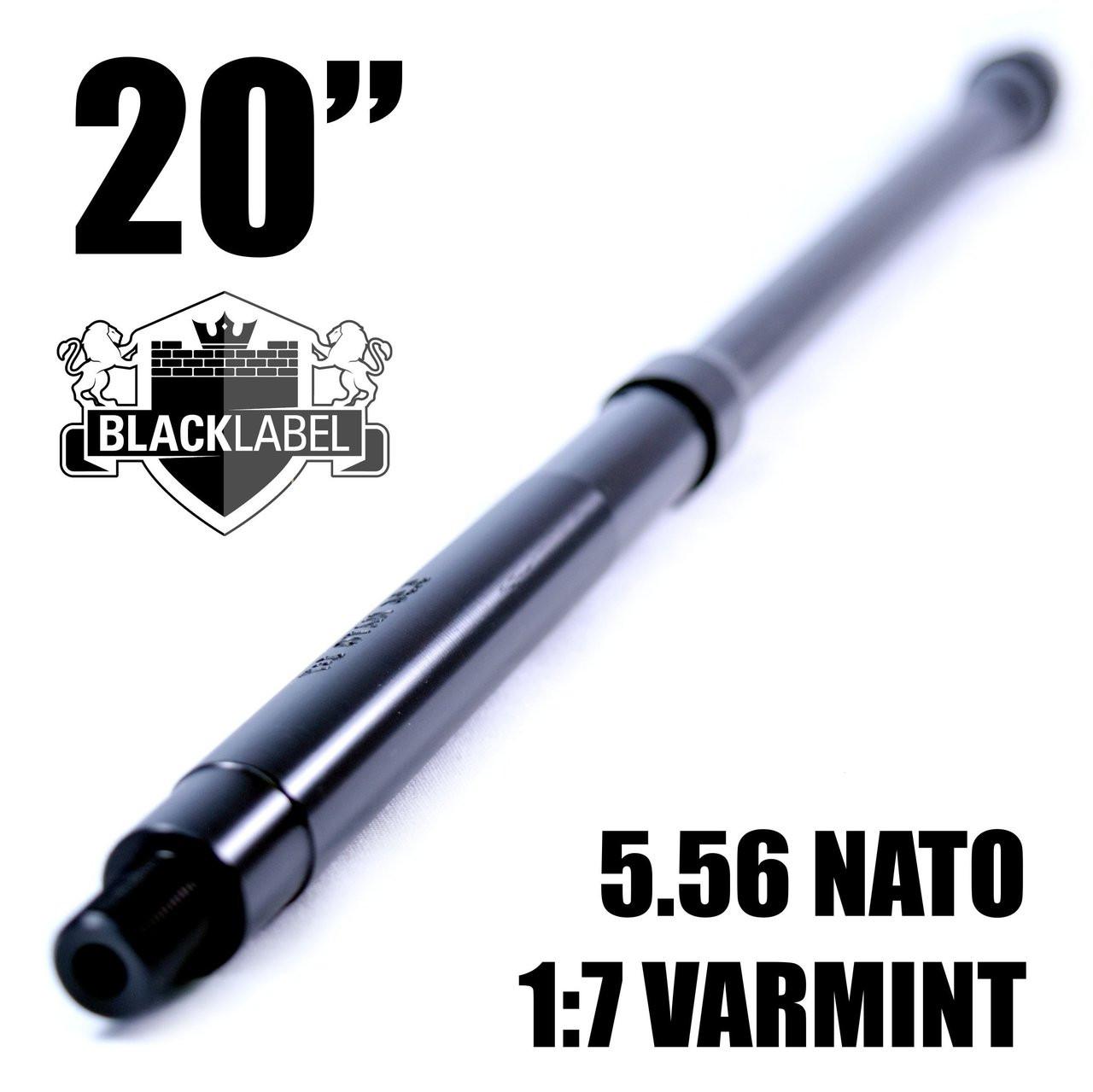 BLACK LABEL 20'' 5.56 Nato Nitride 1:7 Varmint Barrel