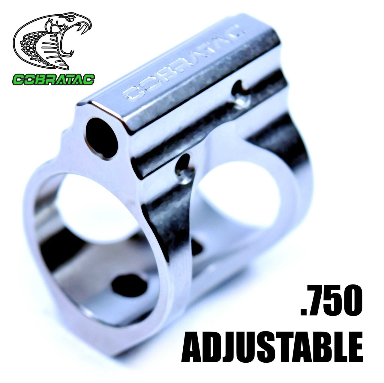 Stainless Adjustable Gas Block .750   Cobratac
