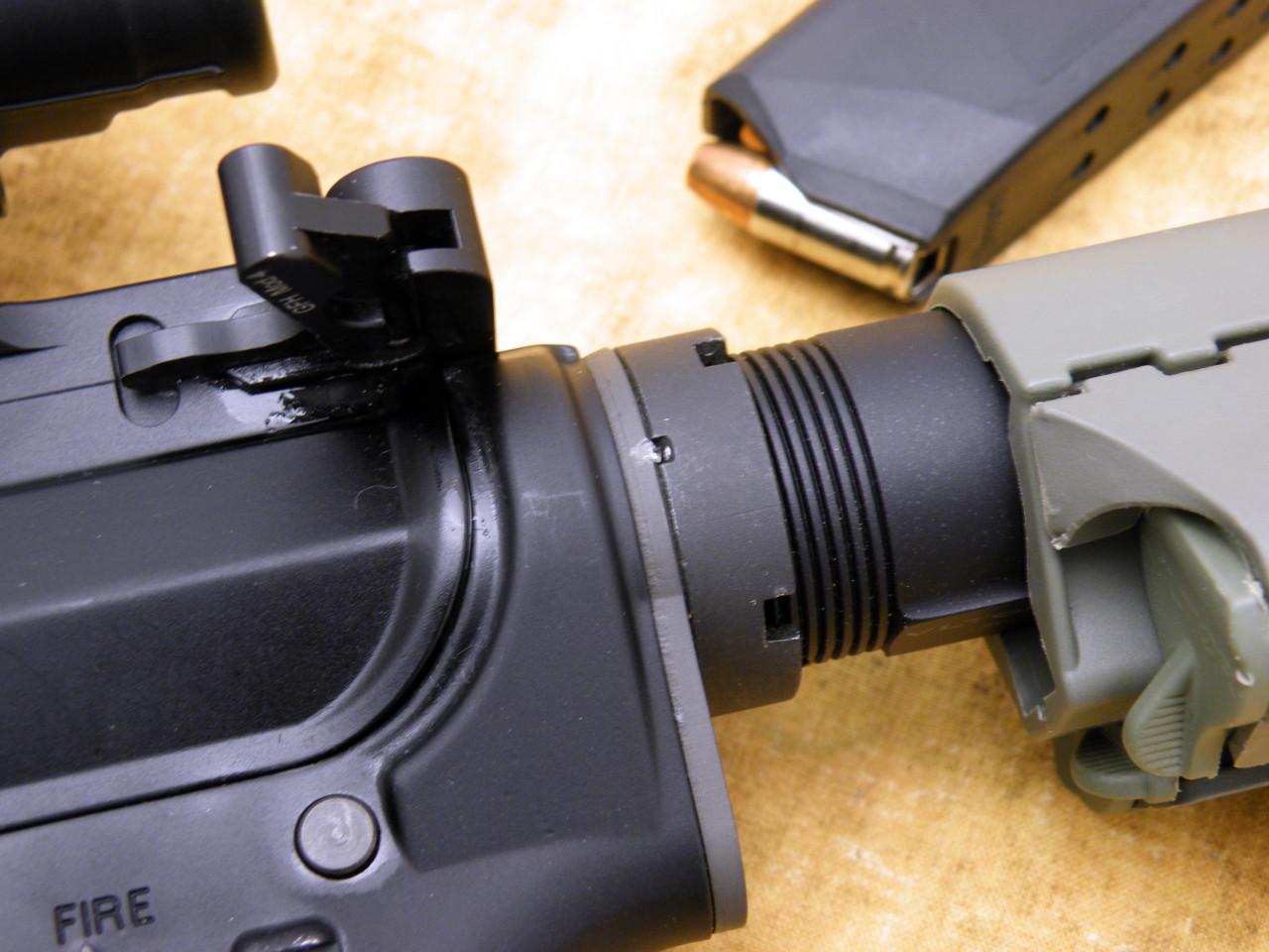 Nitride Castle Nut, AR-15 Mil-Spec for Buffer Tube (AS-0617410)  installation