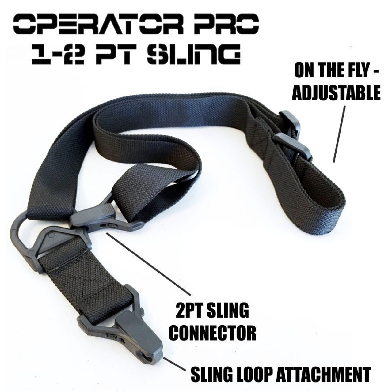 Operator PRO Multi Use Adjustable Sling | Black (TG-SLG020) single point