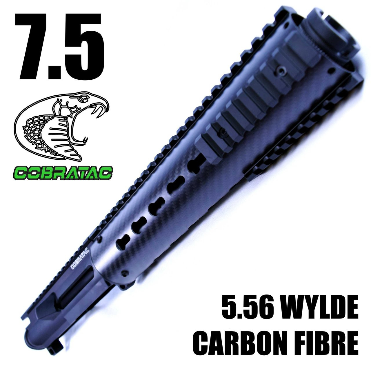 "7.5"" Nitride Barrel - 9"" Carbon Keymod Hand Guard CQB Pistol Upper Build 