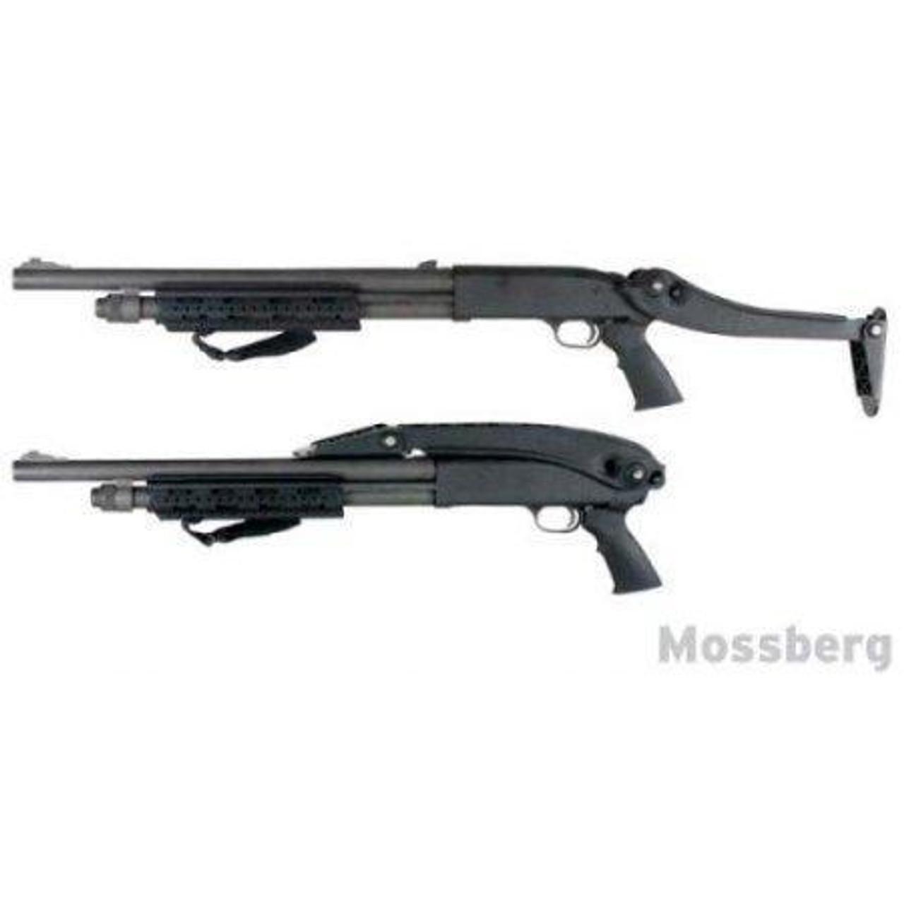 ATI Shotforce Universal Top-Folding Shotgun Stock, Polymer, Matte Black