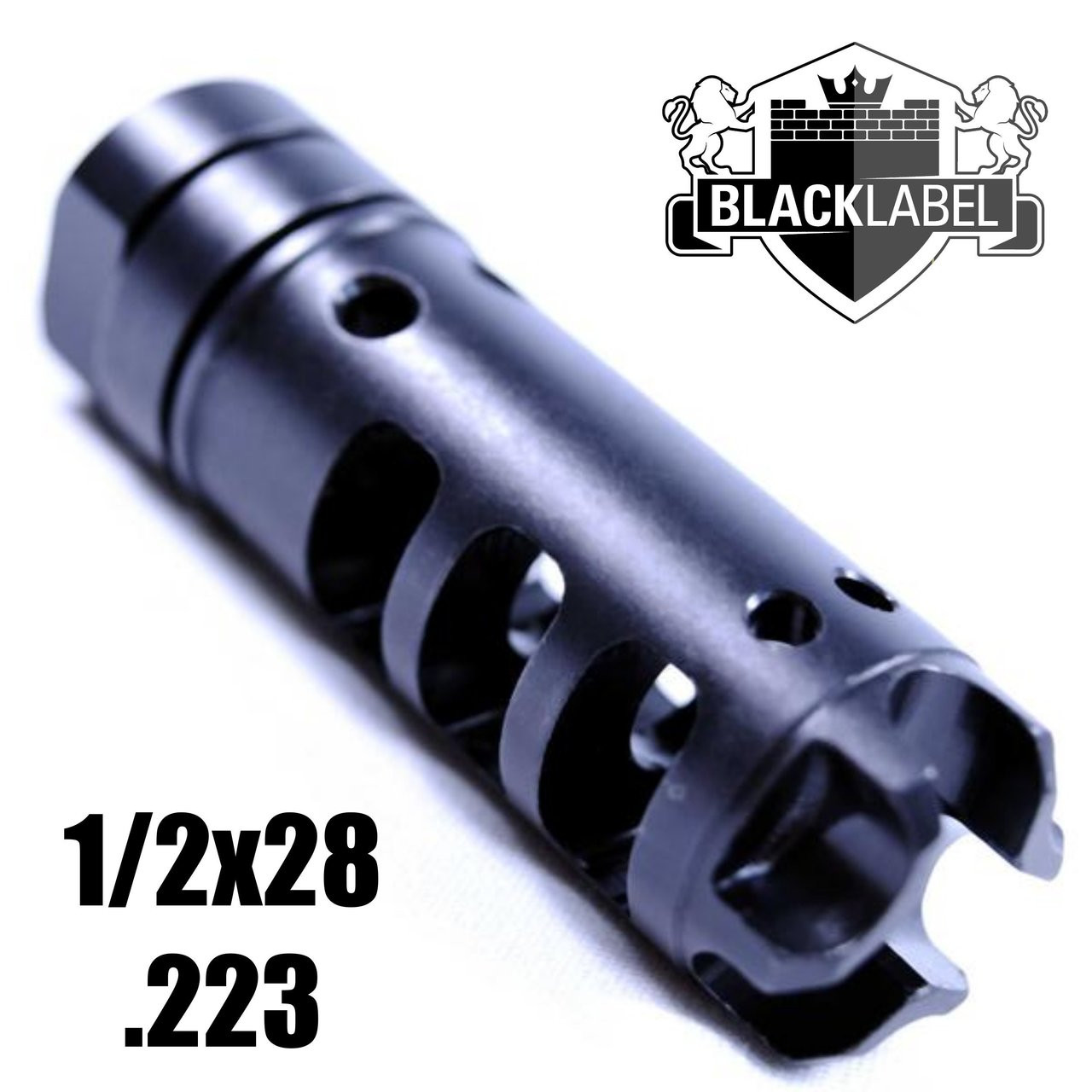 HYDRA-D Nitride Match Competition Brake 3-Stage Compensator | 1/2 x 28 .223