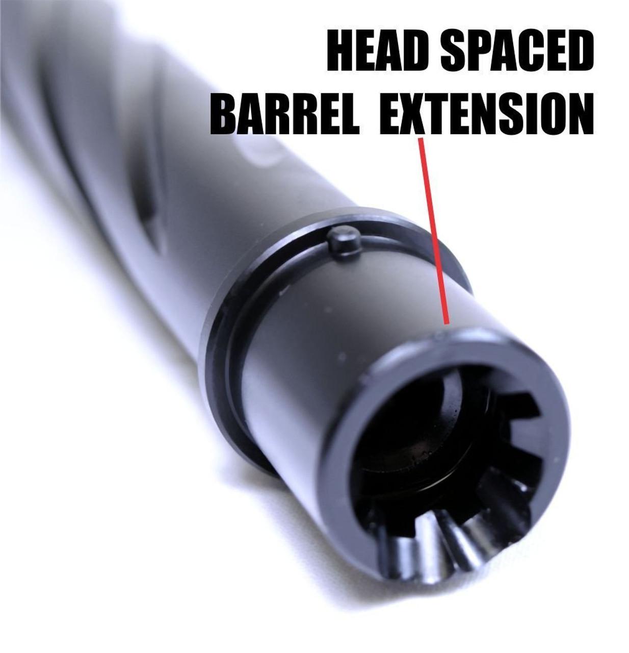 "16"" 300 AAC Obsidian Ultra Match Black Nitride Barrel | Spiral Blackout"