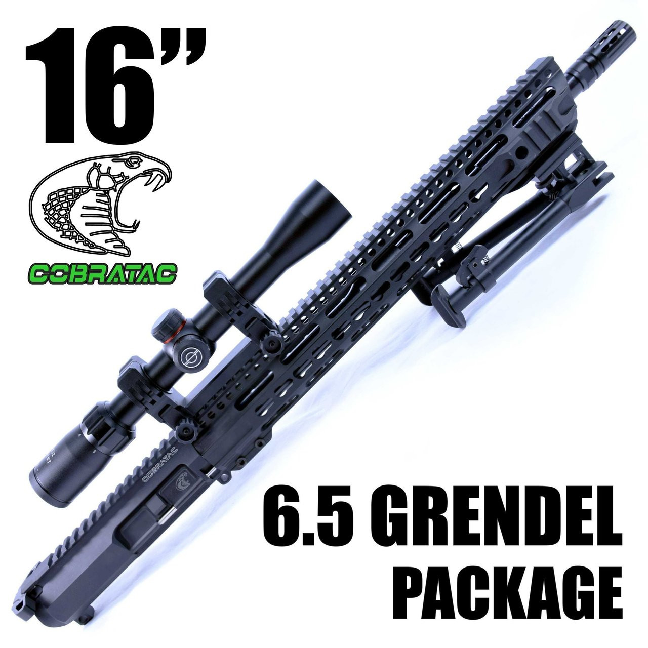 "16"" BILLET 6.5 GRENDEL | NITRIDE | 15"" 3GUN PRO | PRECISION PACKAGE"