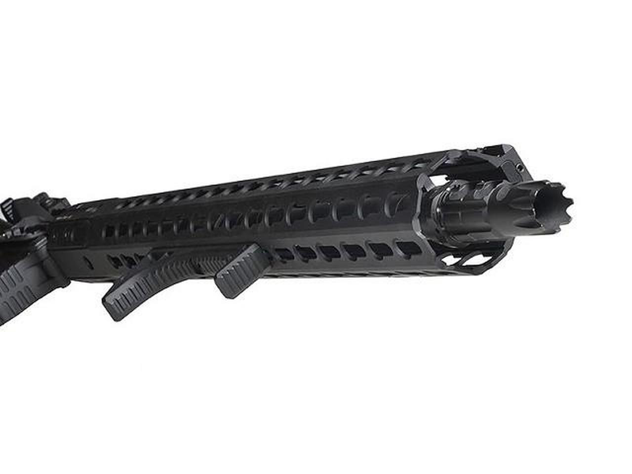 Curved Foregrip Forward Grip Keymod - Black (AS-ACFG1272) installed