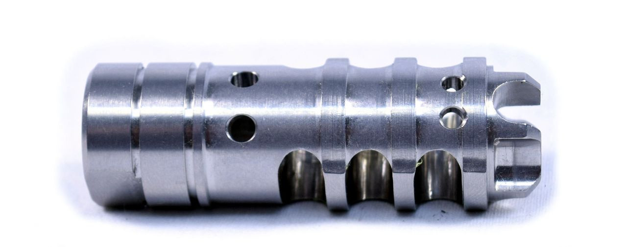 HYDRA-D Stainless Match Competition Brake 3-Stage Compensator   1/2 x 28 .223
