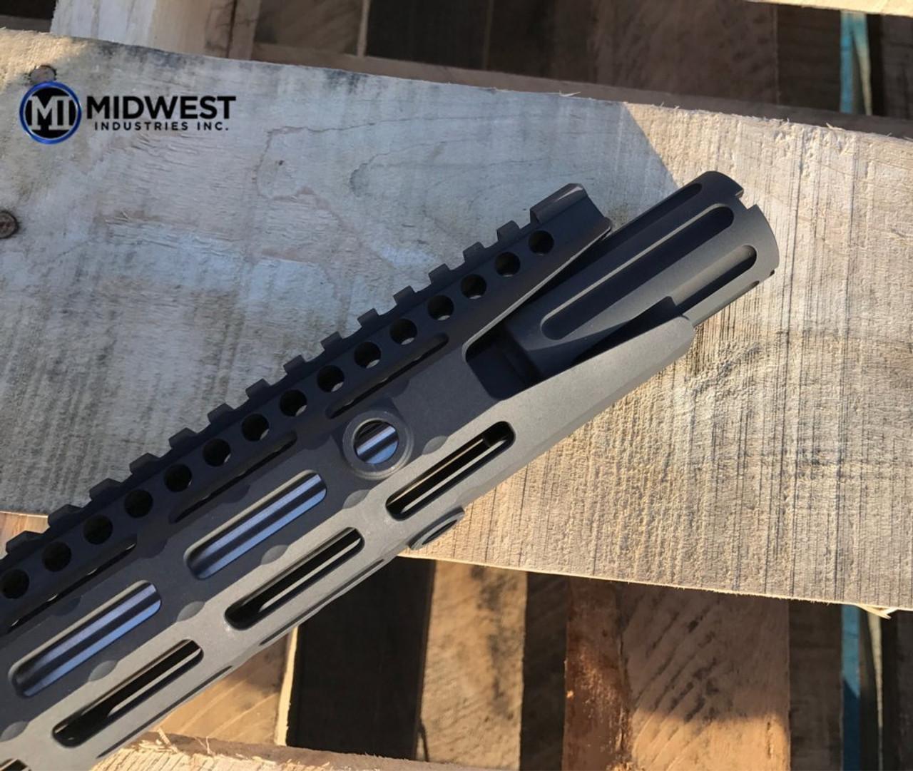 Midwest Industries Blast Can AR-15 Muzzle Device 5.56mm NATO Threaded 1/2x28 6061 Aluminum Hard Coat Anodized Matte Black (CT35MWMI-BC556)