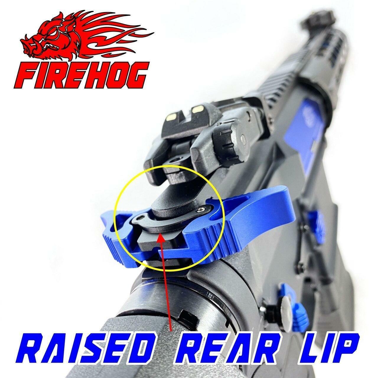 FIREHOG FireHog MOD-GEM4 Ambi Charging Handle with Gas Exhaust Mitigation or Blue AR 10 .308/7.62