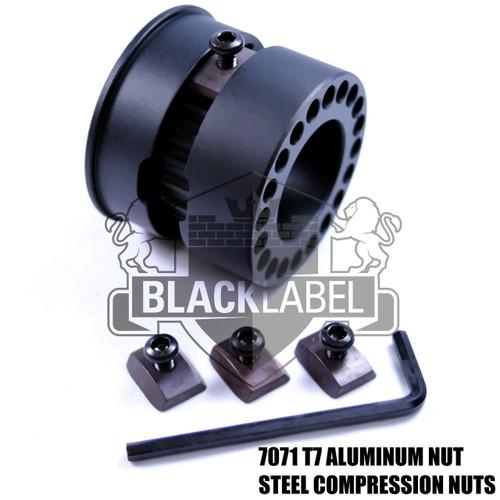 "Black Label Carbon Fiber MLOK   15"" Free Float M-lok  HandGuard/Quad rail"