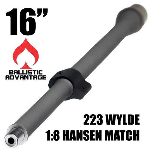 "Ballistic Advantage, Premium Barrel, .223 WYLDE, 16"", 1:8 Twist, Hanson Mid"