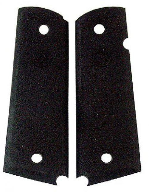 Hogue Panels 1911 Government, Commander with Palm Swells No Finger Groove Grip Rubber Black 45090