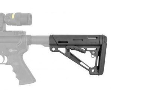 Hogue AR-15/M16 Collapsible Stock, Commercial Tube w/QD and rubber over mold (CT35HO15050)