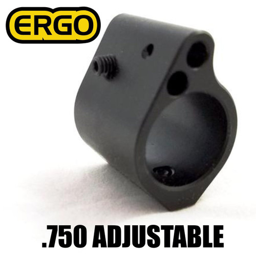 Ergo Grip Gas Block, Low Profile, Adjustable,| .750 Seat | Nitride