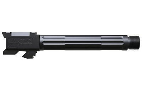 "Lantac 9INE Drop In Replacement Barrel GLOCK 17 Fluted/Non-Threaded 9mm Luger 1:10"" Twist Stainless Steel Black DLC Finish"