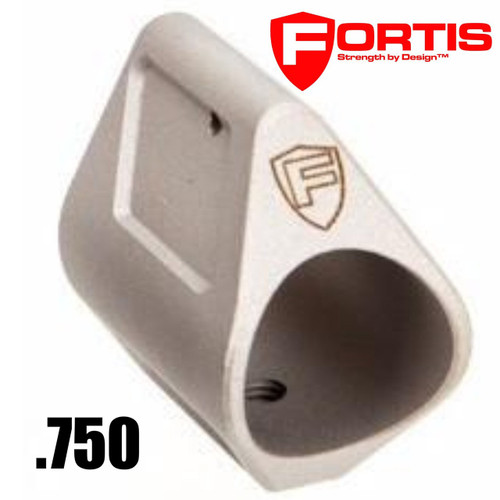 Fortis Manufacturing, Inc., Low Profile Steel Gas Block, .750 | Stainless