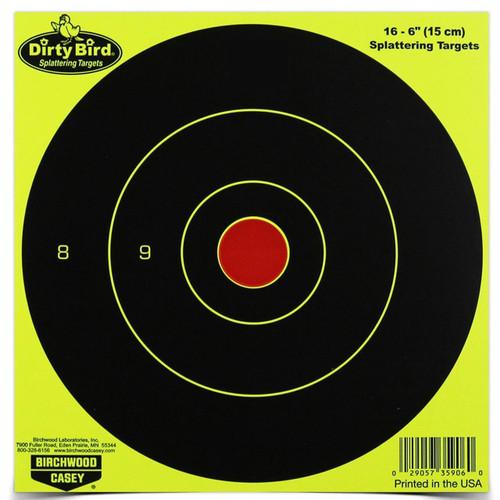 "B-c Dirty Bird Yellow Rnd Tgt 16-6"""