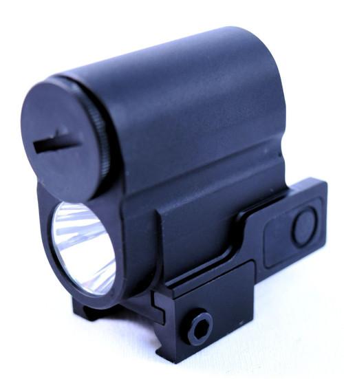 Compact Tactical Flashlight   300 Lumen   Picatinny Rail