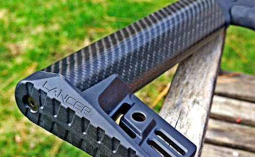 "Lancer AR-15 Carbon Fiber Fixed Stock A2 Length 10.80"" Black (CT35LSLCS-A2-R)"