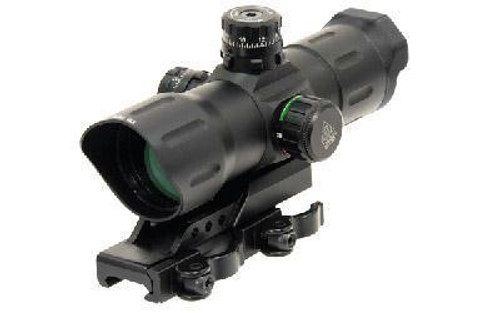 "Leapers UTG, 6"" ITA Red/Green CQB Sight ,T-Dot Reticle, 1/2 MOA Adjustments, Offset QD Mount, Matte Black"