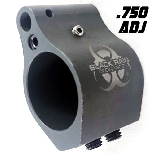 Black Rain Ordnance .750 Gas Block, Adjustable (CT35BRO-LP-750A)