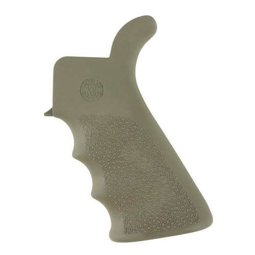 Hogue AR-15/M16 OverMolded Rubber Pistol Grip With Finger Grooves and Beaver Tail OD Green