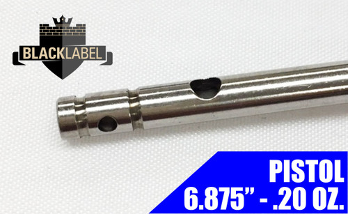 "Black Label Pistol Gas Tube 6.687"" - Stainless 