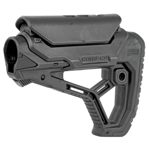 FAB Defense GL-CORE CP Rifle Butt-stock | Black, Mil-Spec/Commercial side shoit