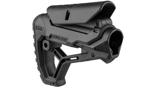 FAB Defense GL-CORE CP Rifle Butt-stock | Black, Mil-Spec/Commercial adjustable cheek rest